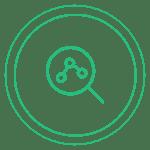Ícone de uma lupa em uma informação