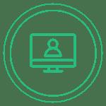 Ícone de um monitor de computador