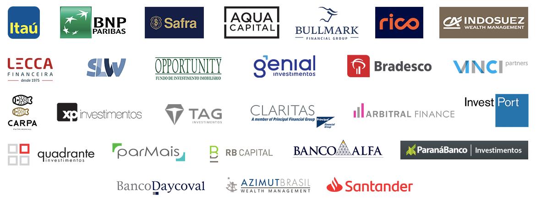 Logos dos clientes da SmartBrain