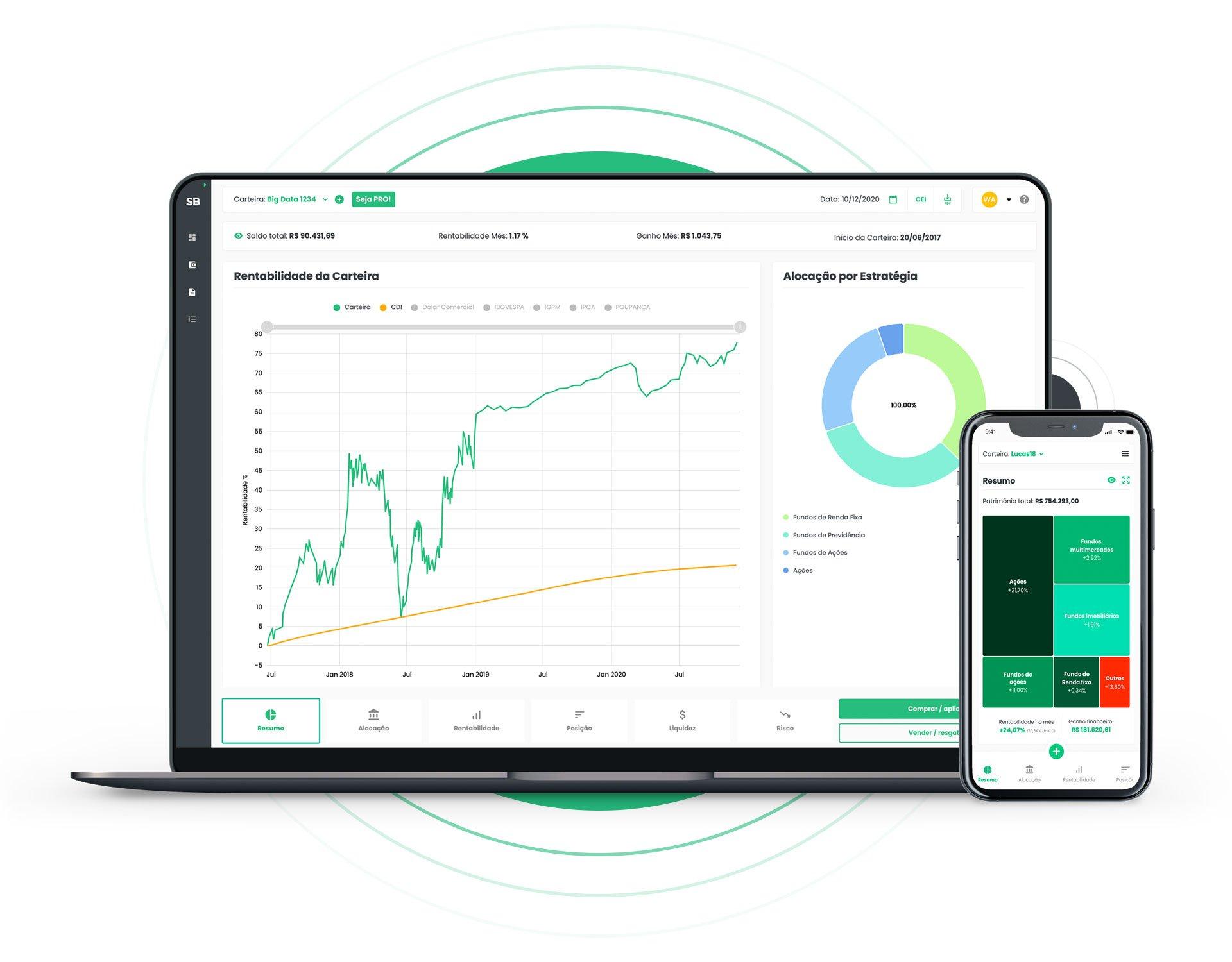 Advisor Smartbrain - Consolidador de investimentos